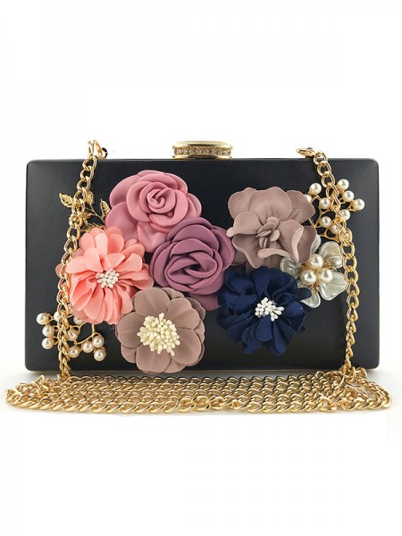 Elegant PU Evening/Casual Bags Med blomster